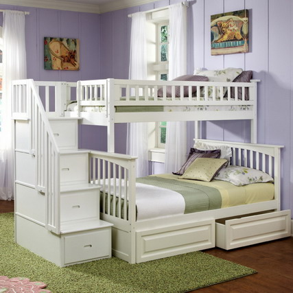 A calm and safe sleep for your kids babyroom design for Cheap bunk bed ideas